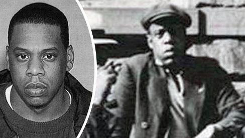 Jay-Z se svým dvojníkem z minulosti.