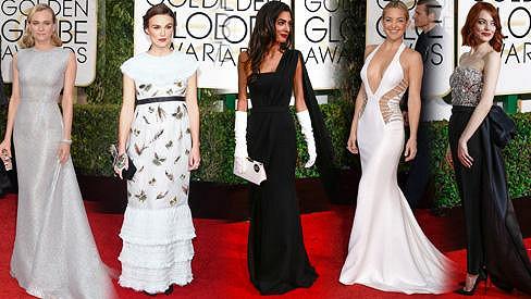 Ty nejzajímavější módní kreace z udílení Golden Globes Awards