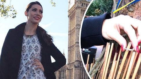 Tereza Kerndlová se v Londýně zastavila u domu Amy Winehouse.