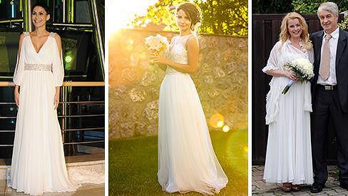 Která celebrita zářila v nejkrásnějších svatebních šatech?