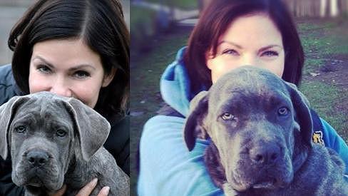 Anna K. a její nový psí mazlíček.