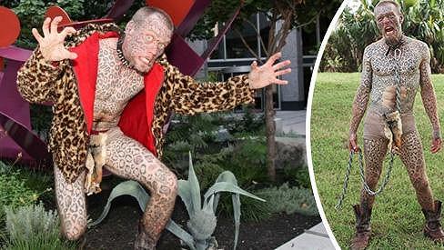 Larry Da Leopard je posedlý velkými šelmami a tetováním.