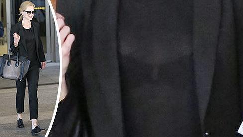 Nicole Kidman provokovala průhledným svetříkem.
