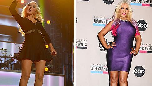 Christina Aguilera dnes a před rokem