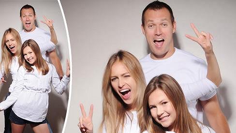 Renata Langmannová s přítelem Ondřejem a jeho dcerou Trinity.