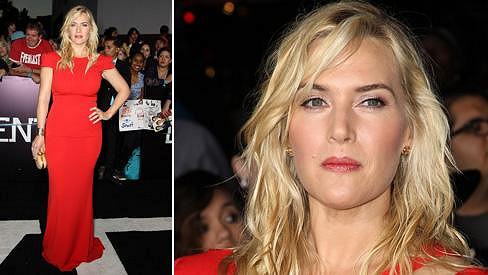 Kate Winslet působila nespokojeně.