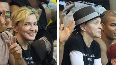 Madonna, její syn Rocco a přítel Brahim se přišli podívat, jak fungují sociální projekty v Brazílii.