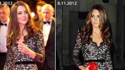 Vévodkyně Kate si tyto skvostné šaty oblíbila.
