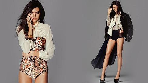Kendall Jenner pro Miss Vogue.