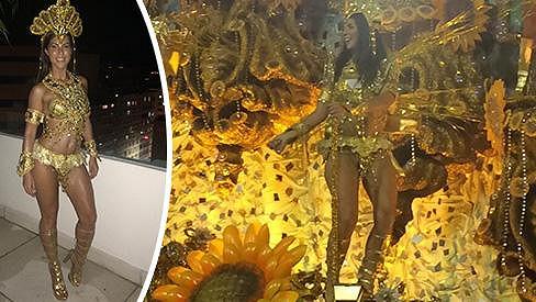 Dvojnásobná maminka předvedla svou vysportovanou figuru na samba dromu v Riu.