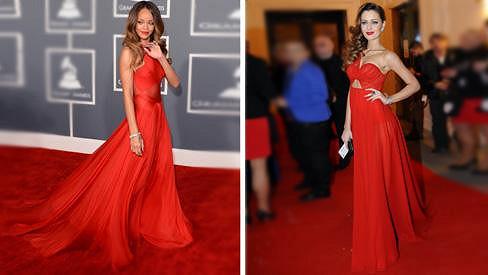 Rihanna inspirovala svou módní róbou tvůrce i v Čechách.