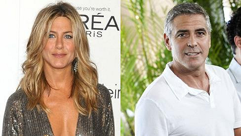 Jennifer Aniston a George Clooney.