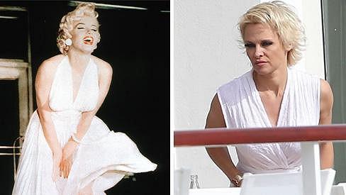 Pamela a její vzor Marilyn