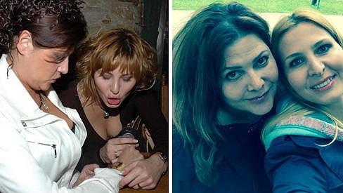 Ilona Csáková a Ivana Gottová v roce 2004 a dnes