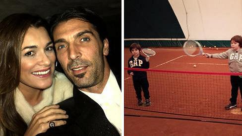 Alena Šeredová žije se slavným fotbalistou, děti ale zapsala na tenis.
