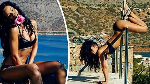 Rihanna předváděla své sexy tělo v Řecku.