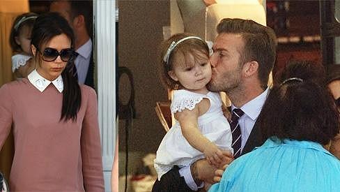 David Beckham se věnoval své dcerce a Victoria si zachovala kamennou tvář jako vždy.