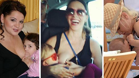 Tyto dámy se kojení na veřejnosti nebojí.