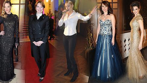 Takto se dámy oblékly na ples Prahy 1 na Žofíně.