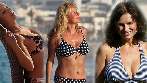 Dana Morávková, Vendula Svobodová a Jana Adamcová vystavily svá těla v plavkách.
