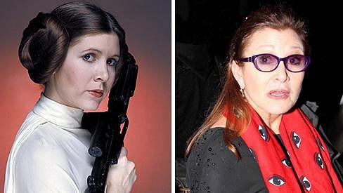 Princezna Leia po 37 letech