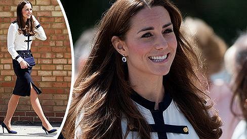 Vévodkyně Catherine navštívila Bletchley Park v Milton Keynes.