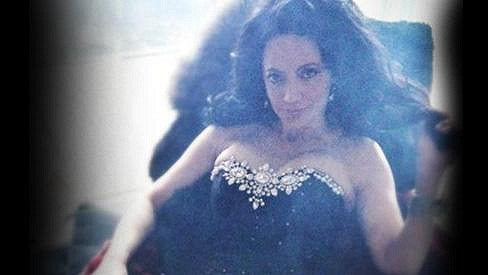 Lucie Bílá v sexy korzetu.