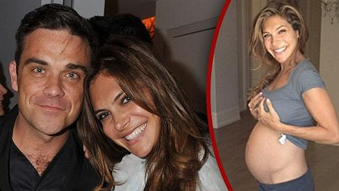 Ayda Field bude krásná maminka a Robbie pyšný táta.