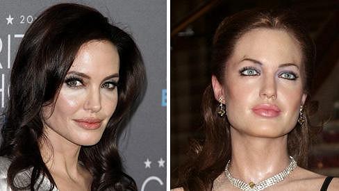 Angelina Jolie a její vosková kopie