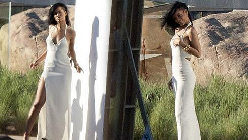 Rihanna během focení pro známý časopis.