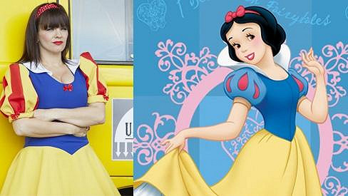 Marta Jandová vypadá v kostýmu Sněhurky roztomile.