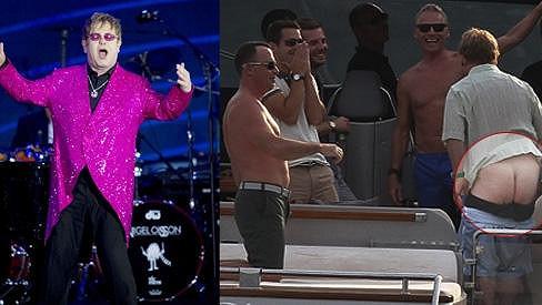 Elton John se nápadem velmi bavil.