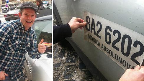 Aleš Háma udělal z Moniky Absolonové taxikářku.