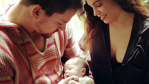 Channing Tatum je na dceru i na manželku náležitě hrdý.