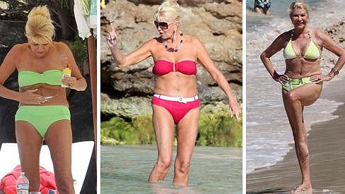 Ivana Trump miluje opalování.