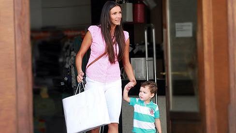 Andrea a její roztomilý syn Jáchym.