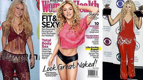 Dnes může být Shakira na obálkách fitness magazínů, ale dřív?