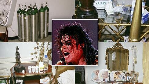 Michael Jackson a snímky jeho ložnice v den jeho úmrtí