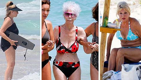 Seniorky se svlékly do plavek.