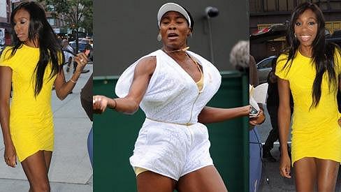 Úžasná proměna Venus Williams v elegantní dámu.