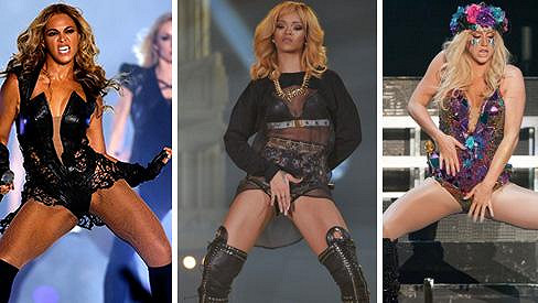 Beyoncé, Rihanna a Kesha - dámy, které se nebojí ukázat víc ze svých těl.