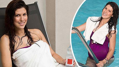 Victoria své pověstné ženské křivky modeluje i před porodem.
