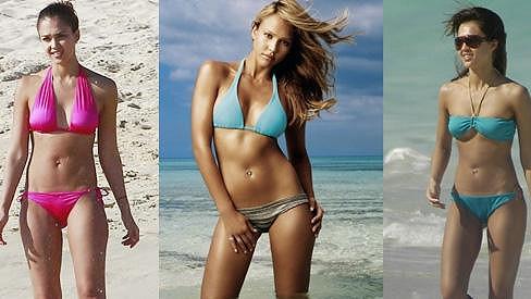 Herečka Jessica Alba má obdivuhodné tělo.