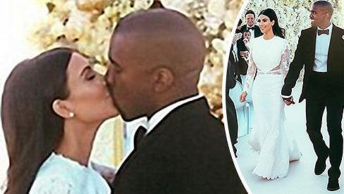 Střípky ze svatby Kim Kardashian a Kanyeho Westa...