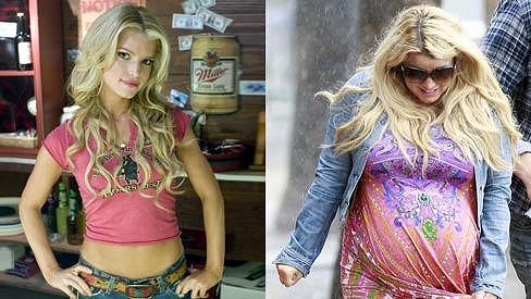 Jessica Simpson si během těhotenství dopřávala vše, na co měla chuť, a bylo to vidět.