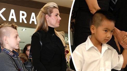 Co mají společného synové Leony Machálkové a Angeliny Jolie? Stejný účes.