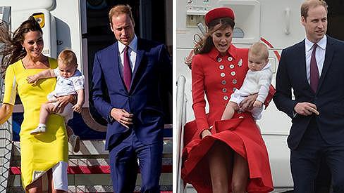 Vévoda a vévodkyně z Cambridge se synem Georgem přistáli v Austrálii.
