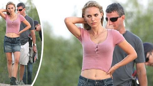 Natalie Portman během natáčení nového filmu.