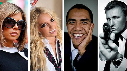 Ne, tohle skutečně nejsou Victoria, Britney, Barack ani Daniel...