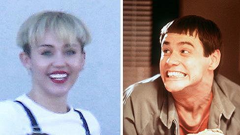 Miley Cyrus jako by z oka vypadla Jimu Carreymu.